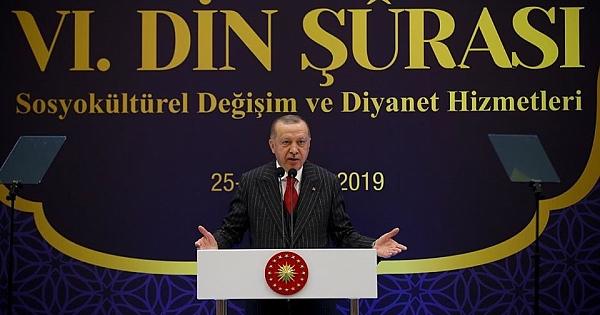 """Erdoğan, """"6. Din Şûrası""""nın kapanış programına katıldı"""