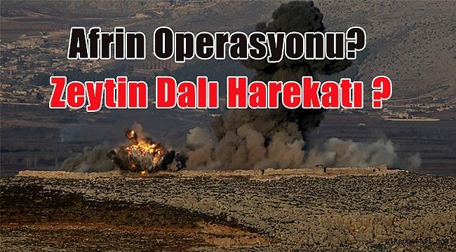 Zeytin Dalı Harekatı Afrin Operasyonu?