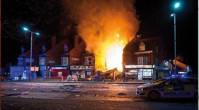 İngiltere Panikte, Leicester şehrinin Hinckley Road bölgesinde büyük patlama!