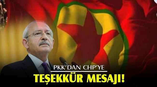 """PKK""""dan CHP""""ye jet teşekkür mesajı geldi.?"""