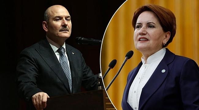 Bakan Soylu'dan Akşener'e canlı yayında çok sert tepki!