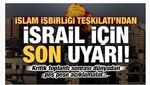 İsrail'e son uyarı!