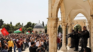 İsrail Polisinden Mescid'i Aksa'da Filistinliler'e Müdahale