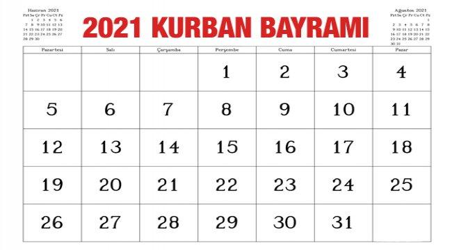 Kurban Bayramı resmi tatili kaç gün olacak? 2021 Kurban Bayramı ne zaman?