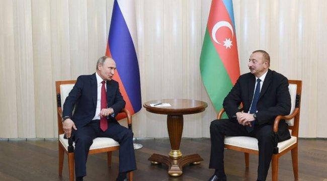 Putin, Azerbaycan Cumhurbaşkanı Aliyev ile görüştü