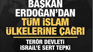 Tüm İslam ülkelerine Erdoğan'dan çağrı