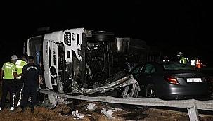 Edirne-İstanbul Otoyolu'nda zincirleme kaza