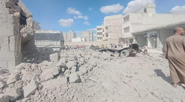 El Bab'da kanlı gün! Bomba yüklü araç patladı: 4 yaralı