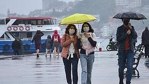 """Meteoroloji'nin hava durumu tahmi """"kuvvetli yağış uyarısı"""""""